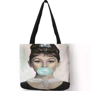 NEW! Audrey Hepburn Tiffany Blue Bubble Tote Bag
